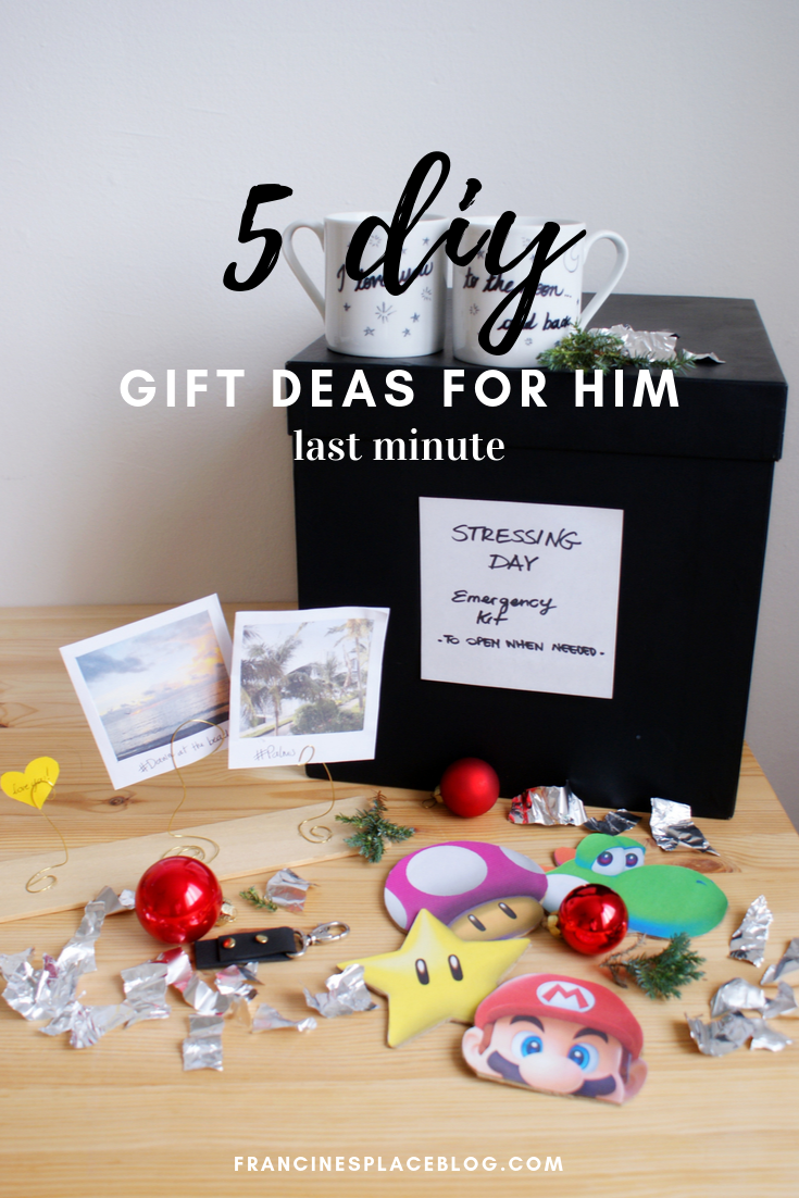 diy gifts idea him christmas budget last minute francinesplaceblog