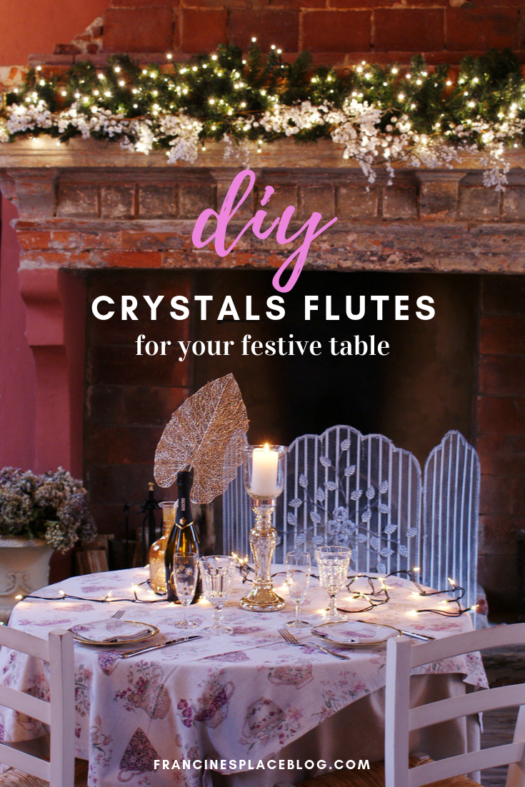 diy decorate crystals christmas festive flutes glasses francinesplaceblog