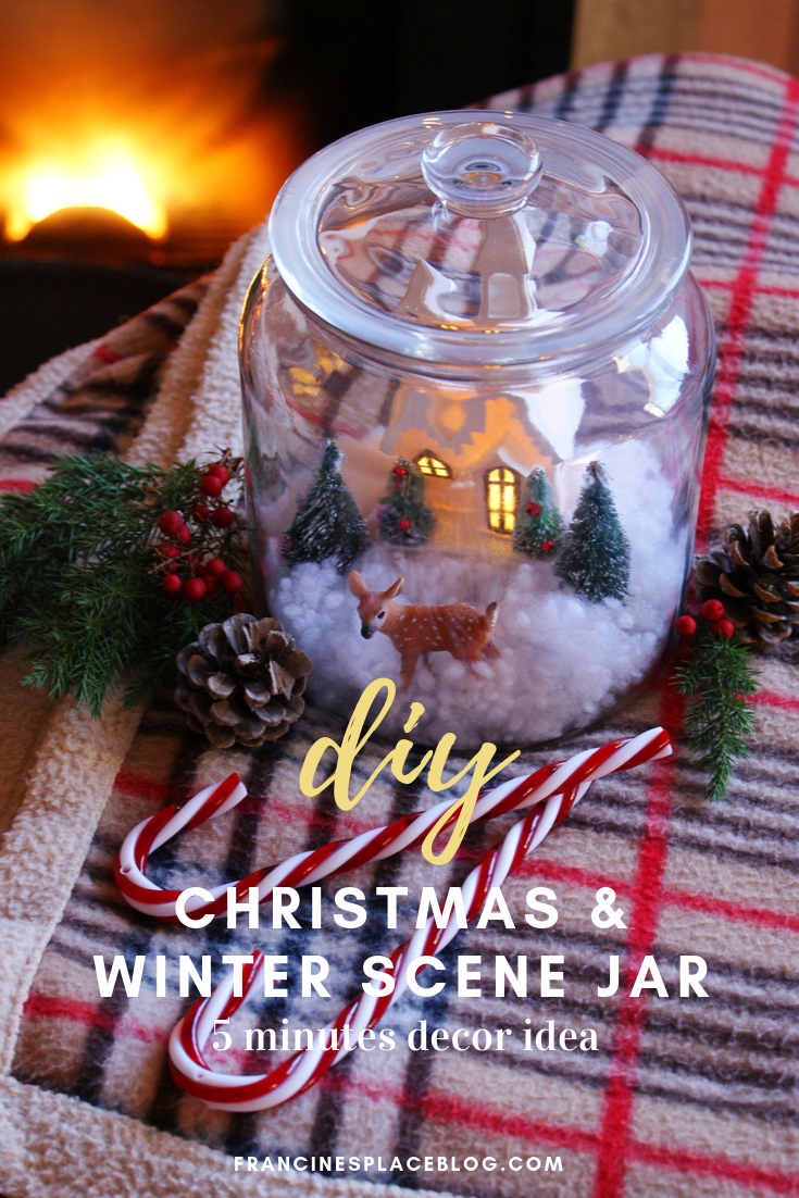 diy christmas snow winter scene jar francinesplaceblog