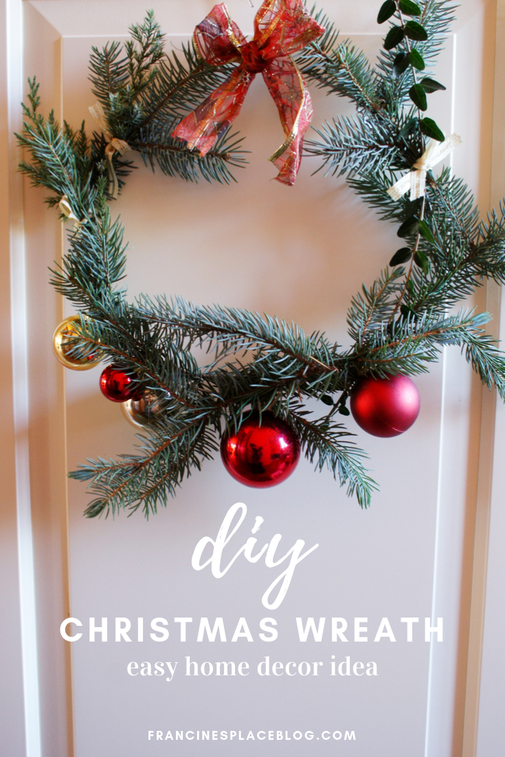 easy minimalist christmas wreath garland diy tutorial francinesplaceblog