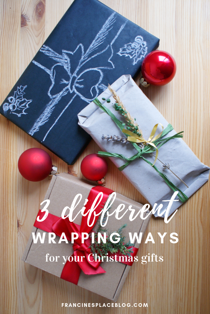 creative ways wapping christmas gifts diy francinesplaceblog