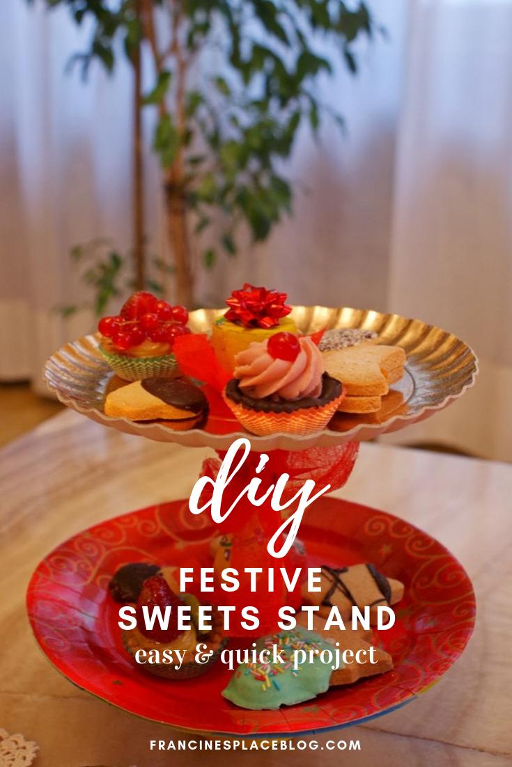 diy christmas festive sweets stand francinesplaceblog