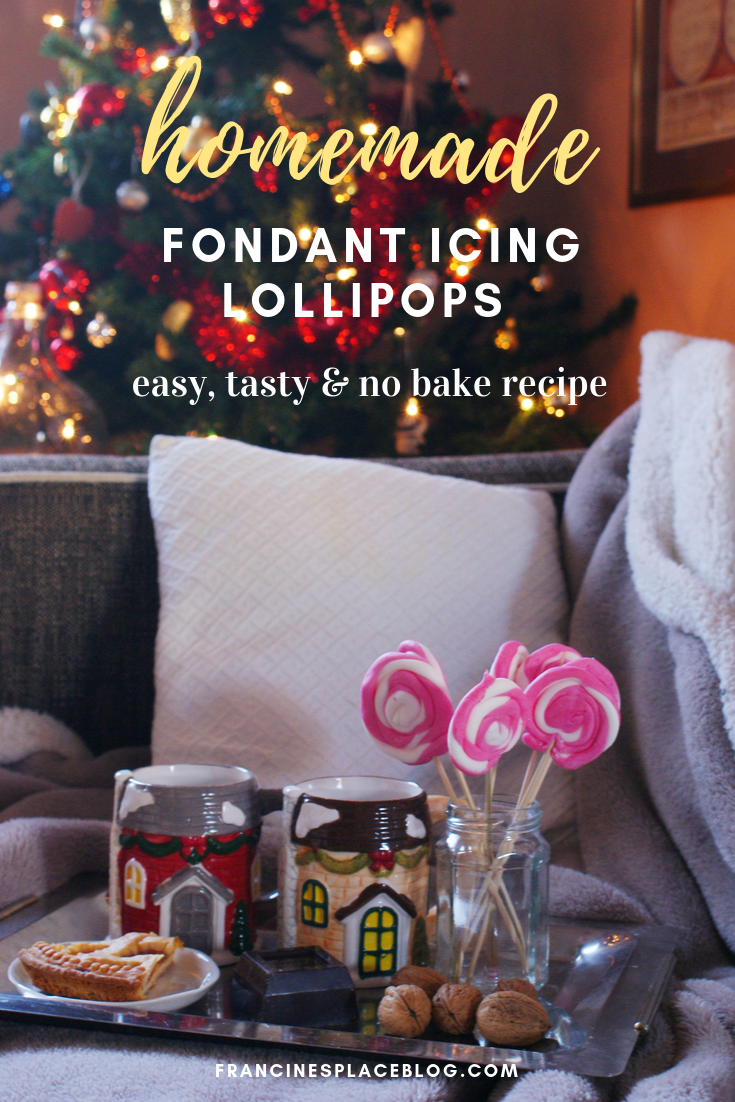 homemade fondant icing christmas lollipops candies recipe francinesplaceblog