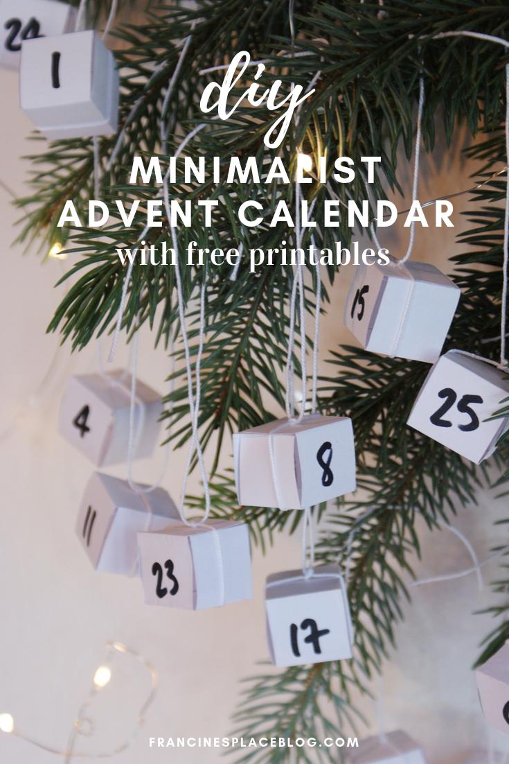 diy minimalist advent calendar scandinavian christmas printables francinesplaceblog