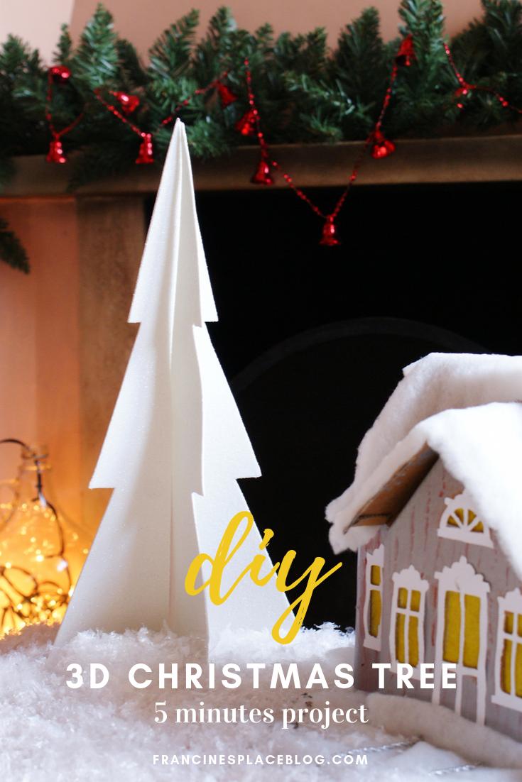 diy last minute minimalist 3d christmas tree francinesplaceblog