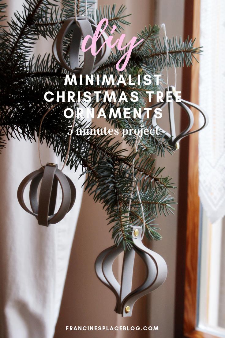 fai da te decorazioni albero natale minimal last minute
