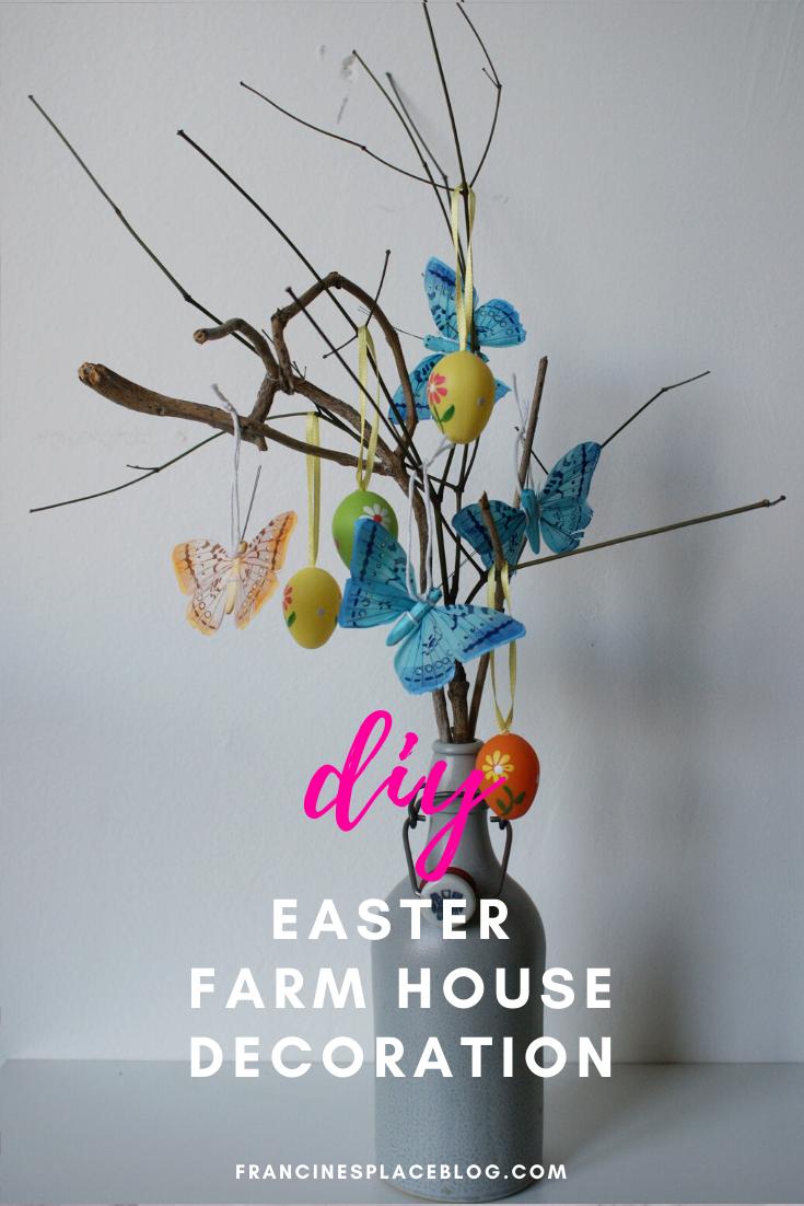 diy easter farm house table decoration easy branch spring idea craft last minute francinesplaceblog