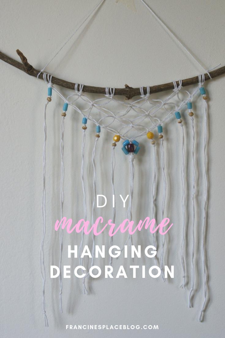diy macrame hanging decor wall easy tutorial francinesplaceblog