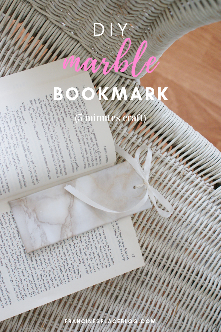 diy marble bookmark easy tutorial francinesplaceblog