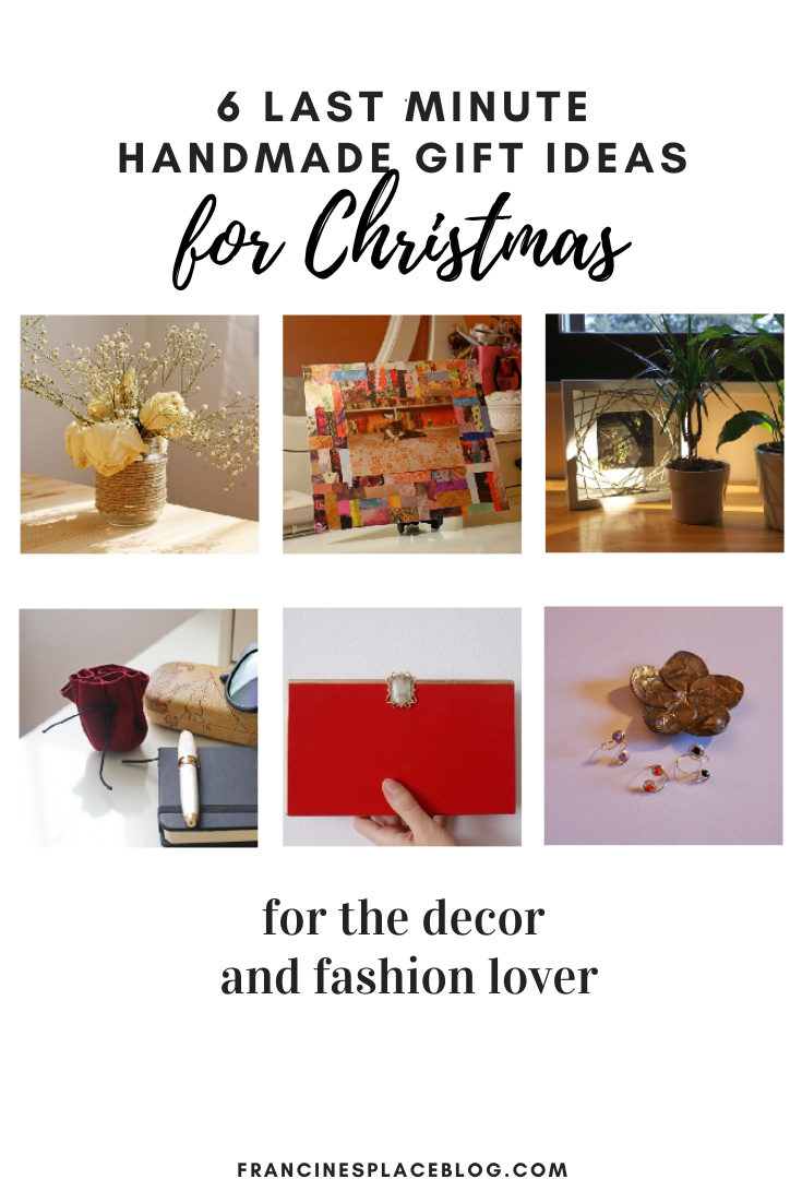 6 LAST MINUTE AND BUDGET FRIENDLY HANDMADE CHRISTMAS GIFT IDEAS
