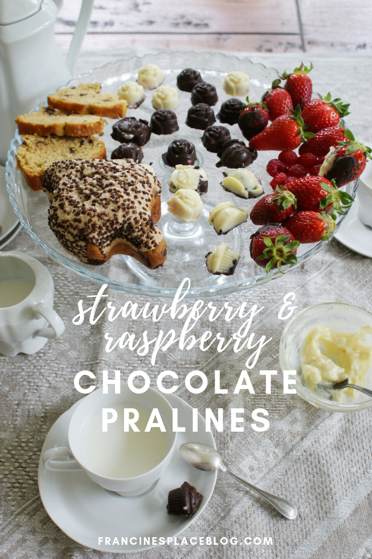 chocolate raspberry strawberry filling pralines recipe easy tutorial francinesplaceblog
