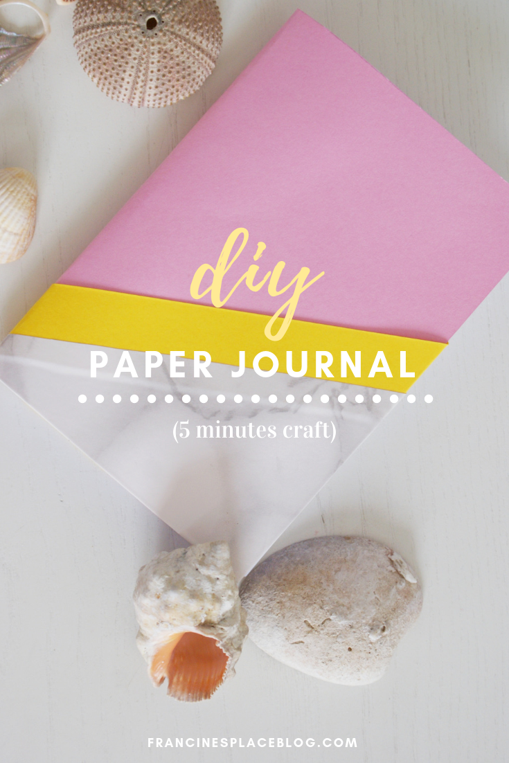 diy paper journal diary planner notes stationery marble francinesplaceblog