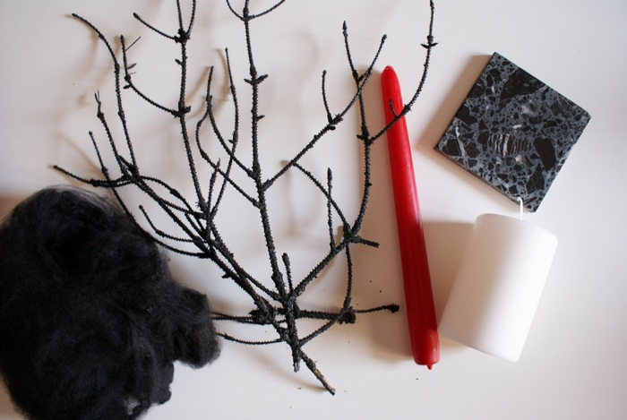 diy halloween decoration web candle