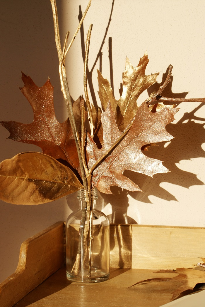 diy painted leaves fall decor