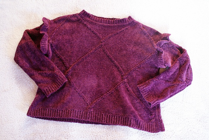 festive christmas sweater purple girly