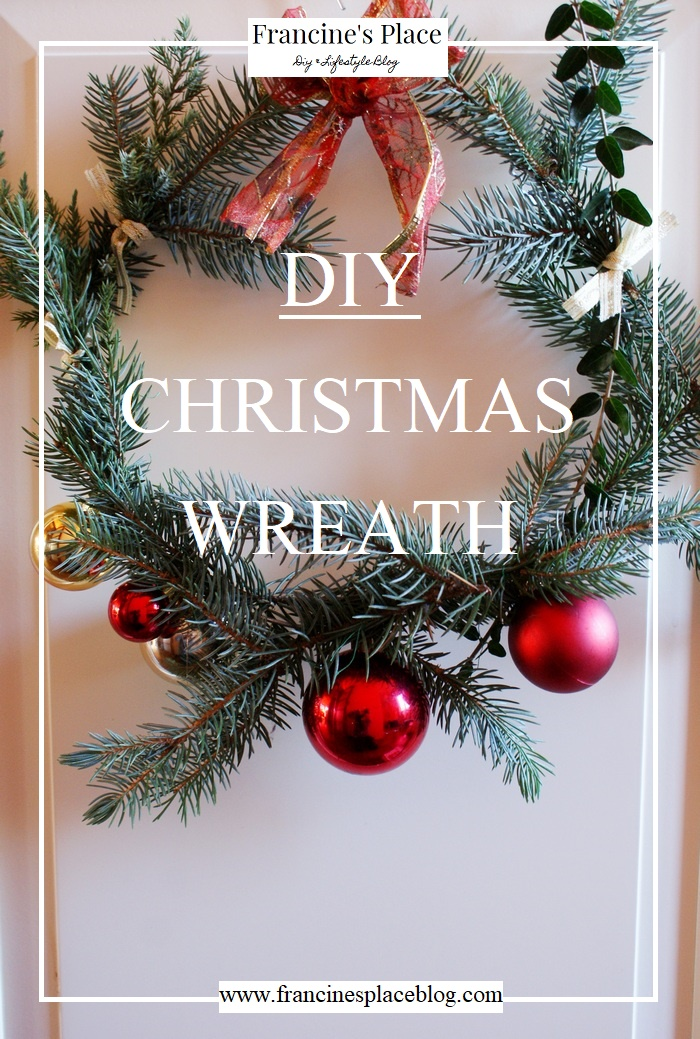 easy diy christmas wreath #fpblogxmas