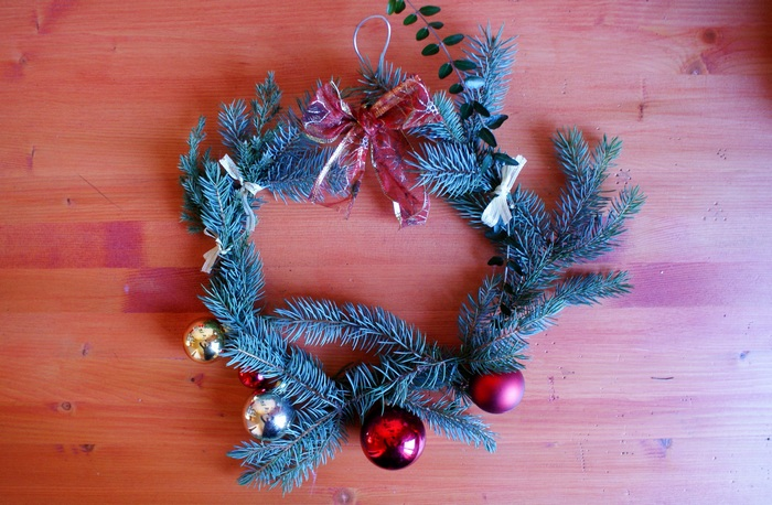 diy pine fir christmas wreath
