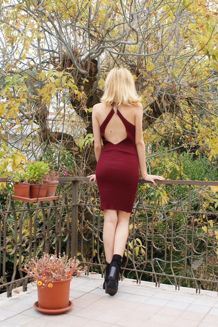 backless dress fall outfit francinesplaceblog