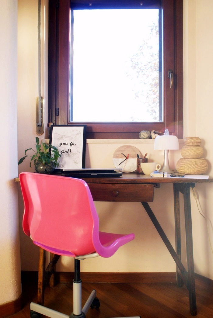 tiny home office workspace small