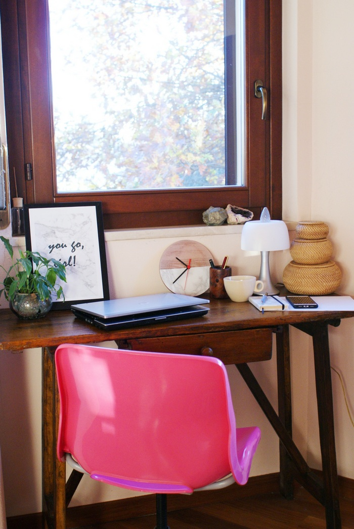 create small office home desk