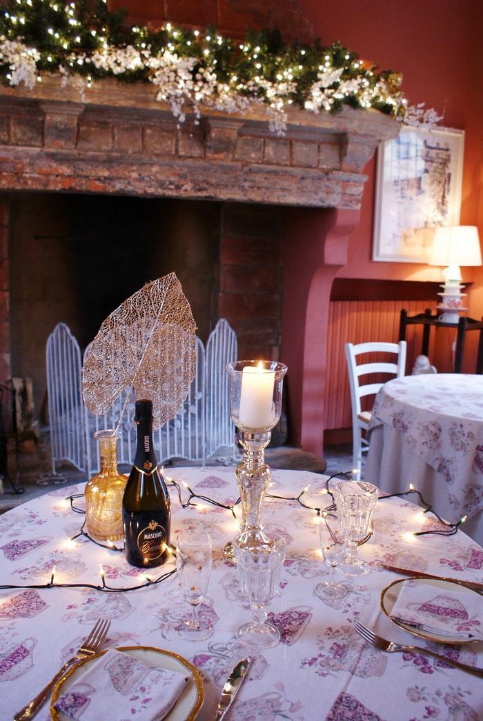 diy christmas table decoration holiday