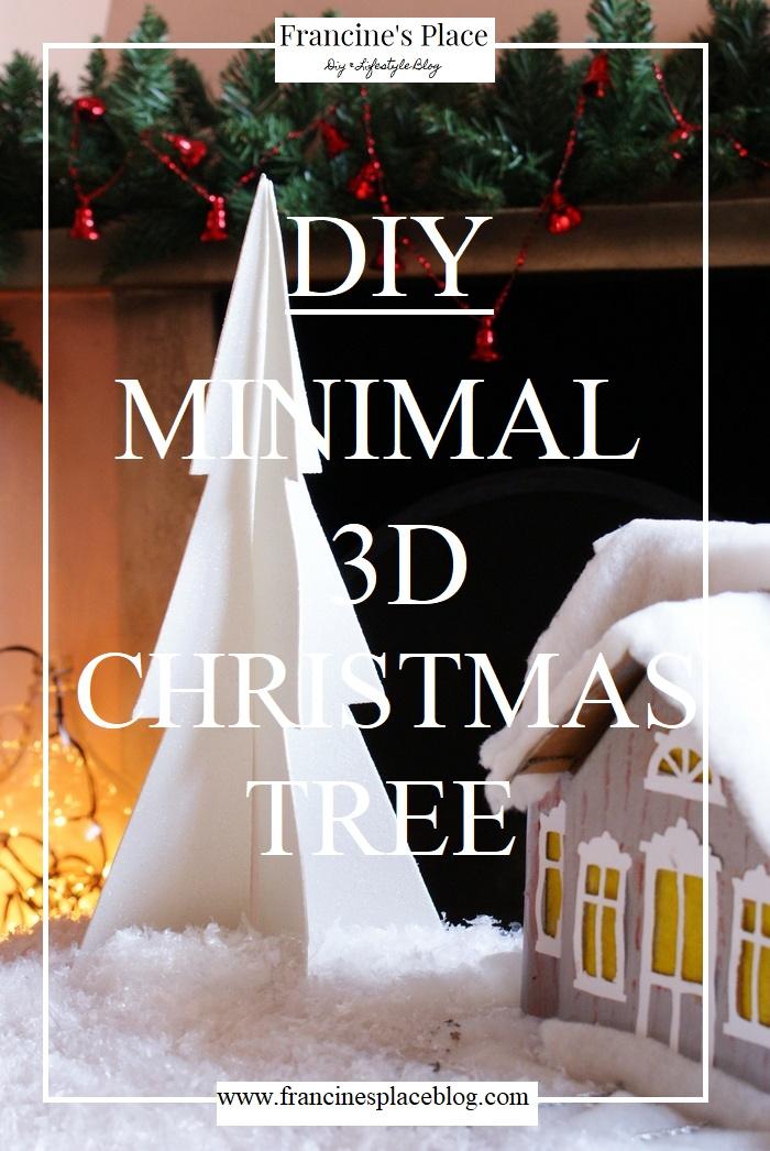 diy 3d minimal christmas tree #fpblogxmas