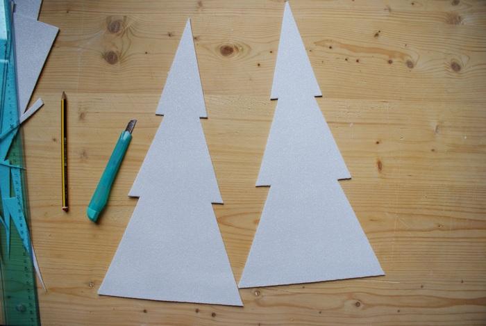 graphic 3d christmas tree diy