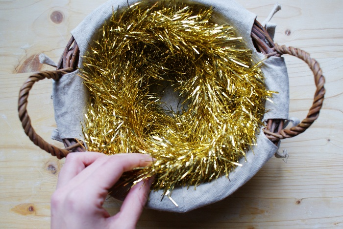 christmas garland basket decoration diy