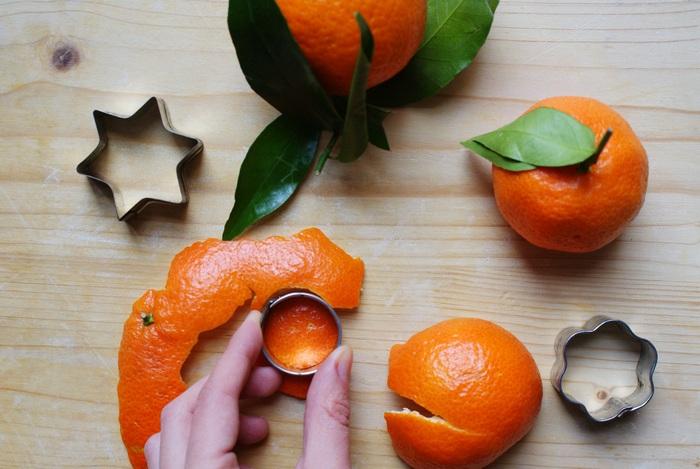 orange peel christmas decoration ornaments