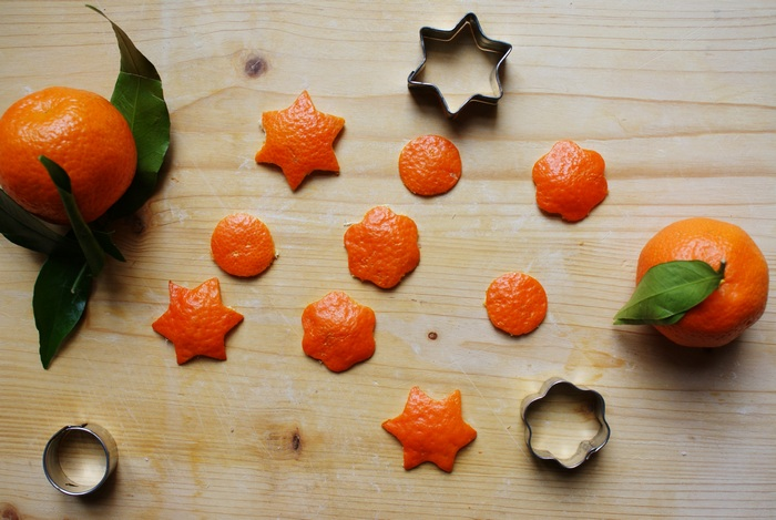 diy orange peel christmas decoration ornaments