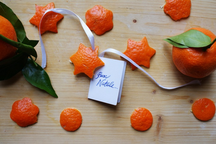 diy orange peel christmas decoration