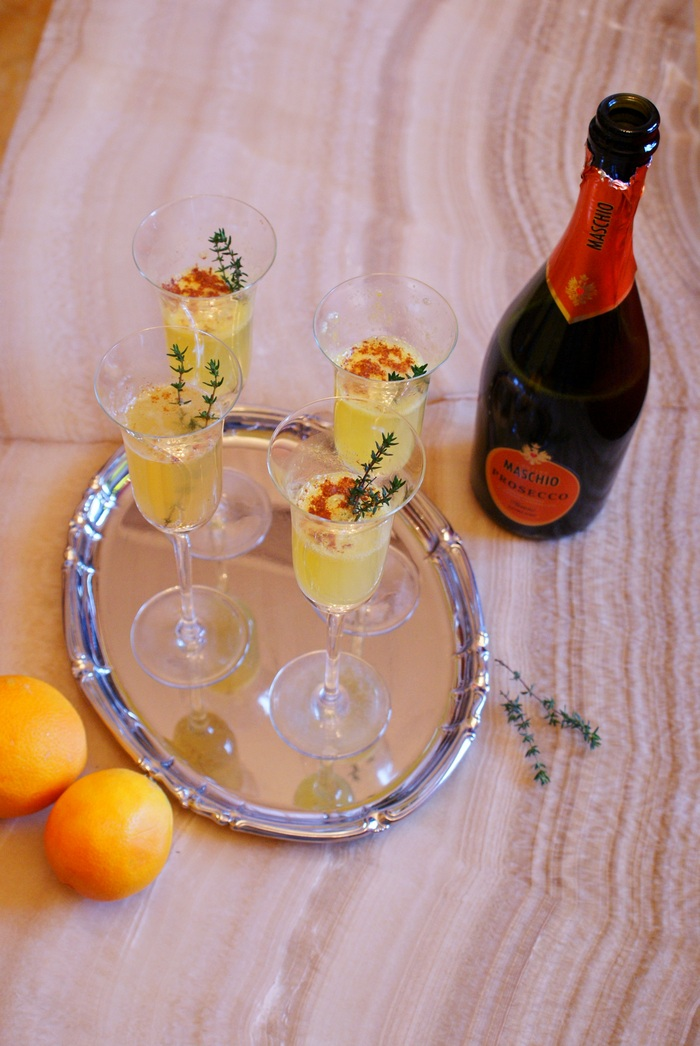 prosecco cocktail recipe diy holiday christmas