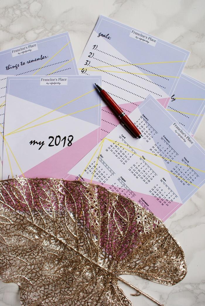 free printable planner goals list francinesplaceblog
