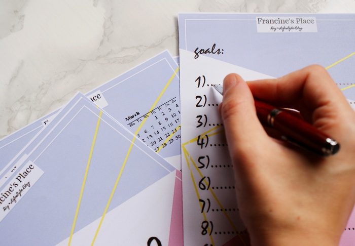free printable goals list to do planner