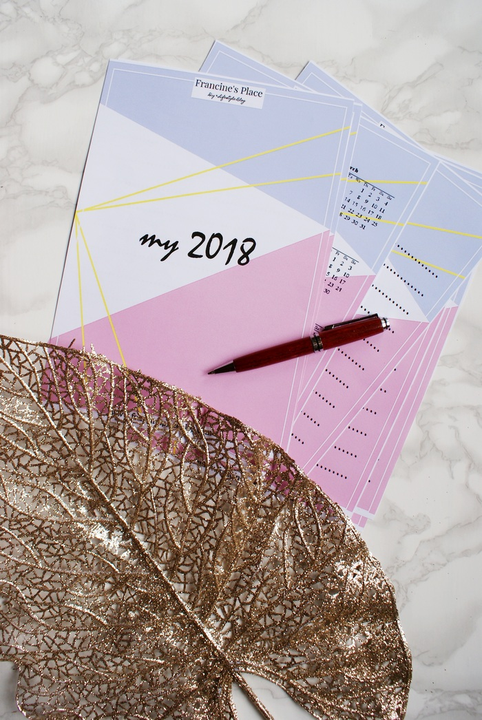 WELCOME 2018! FREE PRINTABLE GOALS LIST AND PLANNER FOR YOU