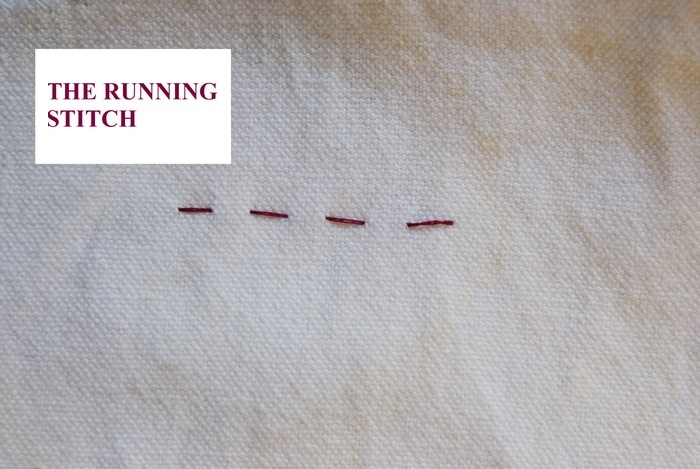 embroidery running stitch tutorial handsew