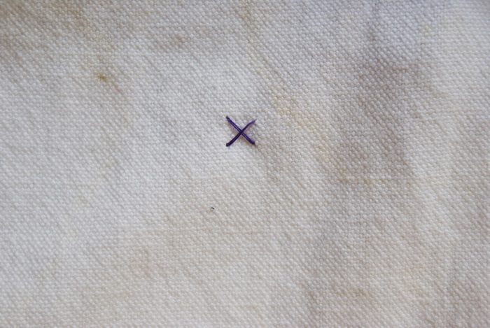 embroidery criss cross stitch tutorial handsew