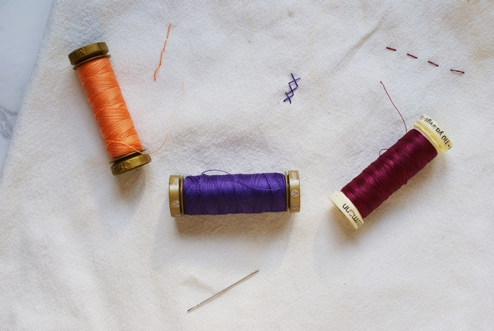 embroidery easy stitches tutorial handsew