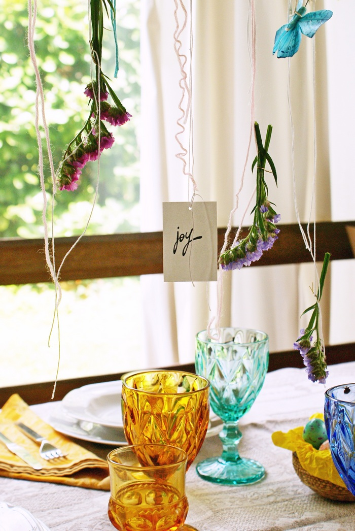 diy garland easter table decor