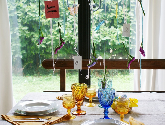 decorazione pasqua tavola faidate ghirlanda