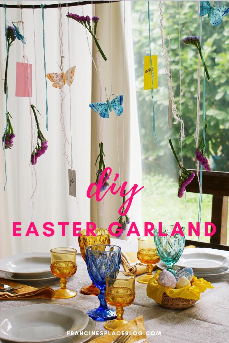 diy easter spring garland home decor craft ideas beautiful francinesplaceblog