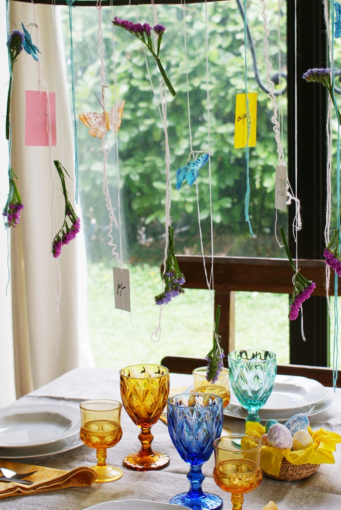 diy garland easter spring table