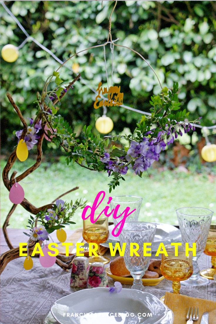 diy easter spring wreath flowers home decor ideas beautiful easy last minute francinesplaceblog