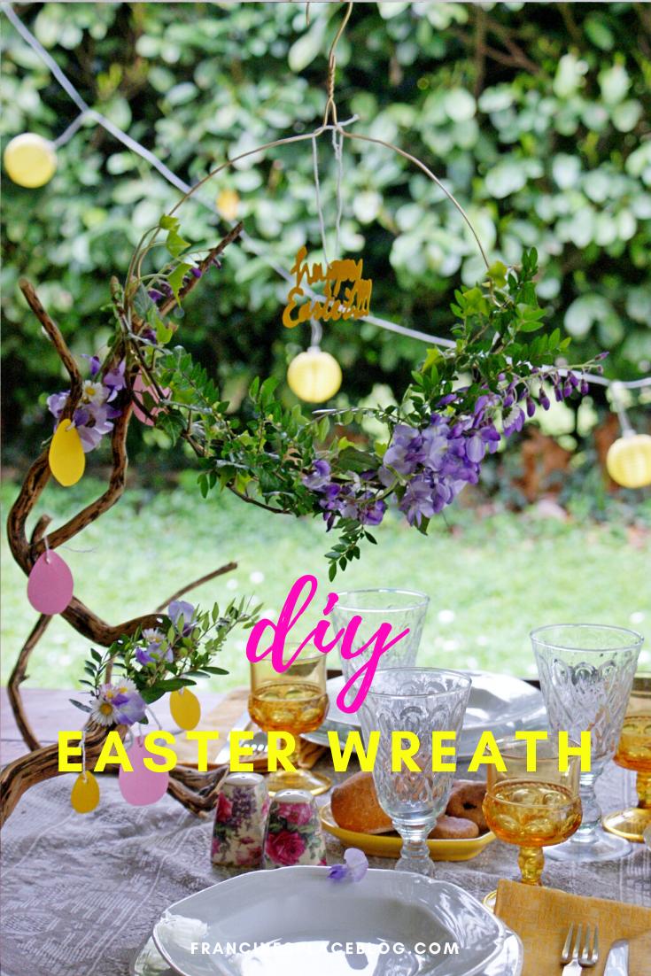 diy easter spring wreath flowers home decor ideas beautiful easy last minute francinesplaceblog