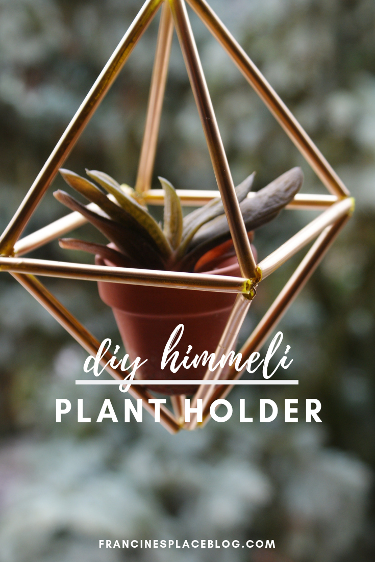 diy himmeli plant holder decor home francinesplaceblog