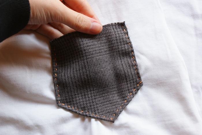 diy wool pocket shirt tee