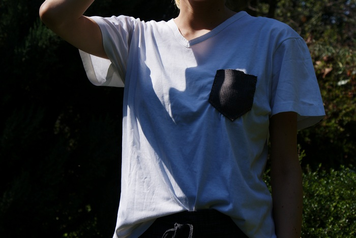 diy wool pocket shirt sew