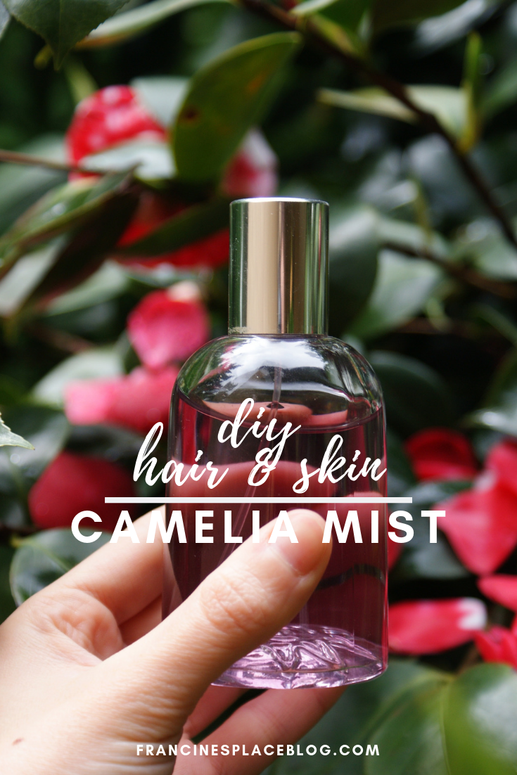 diy hair face skin body camelia mist water spray francinesplaceblog beauty product