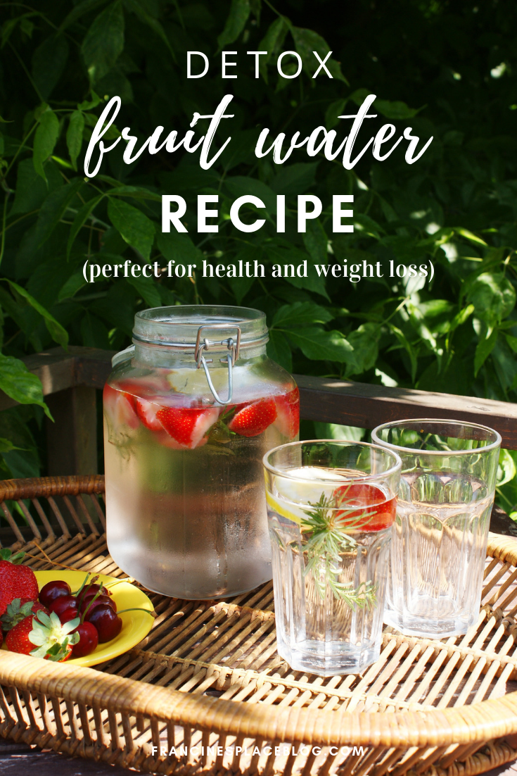 fruit detox water recipe strawberry lemon rosemary health weight loss francinesplaceblog