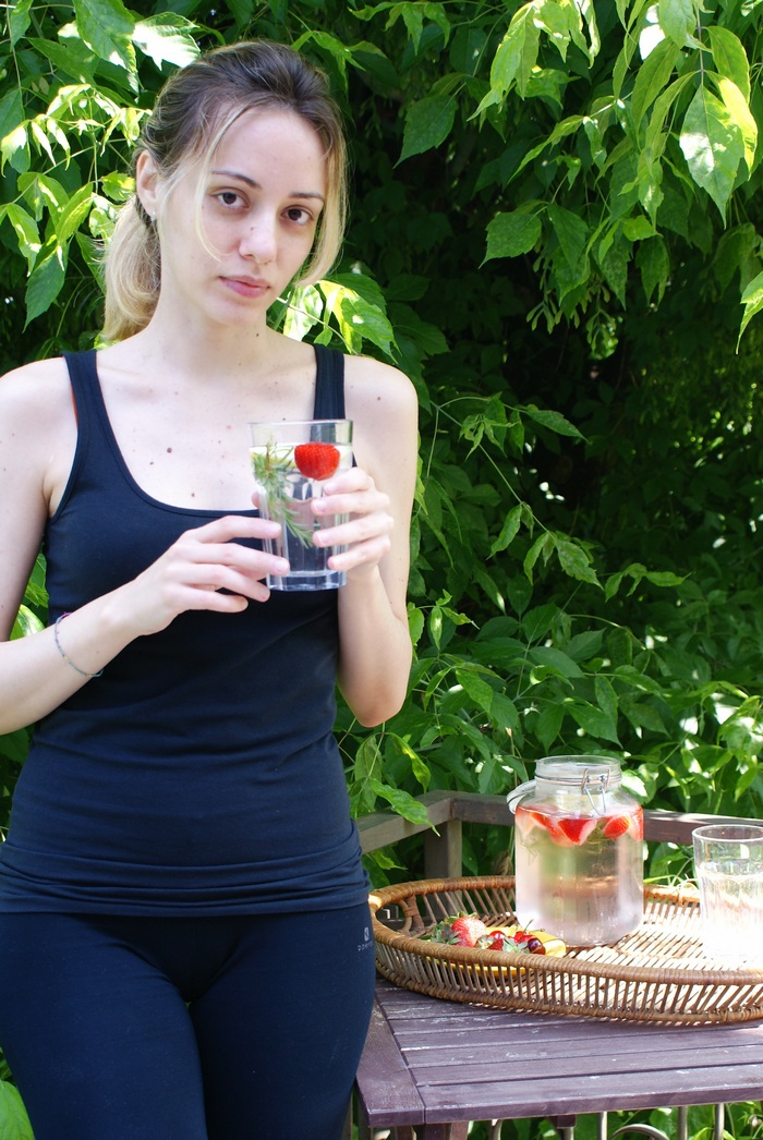 fit detox water healthy recipe